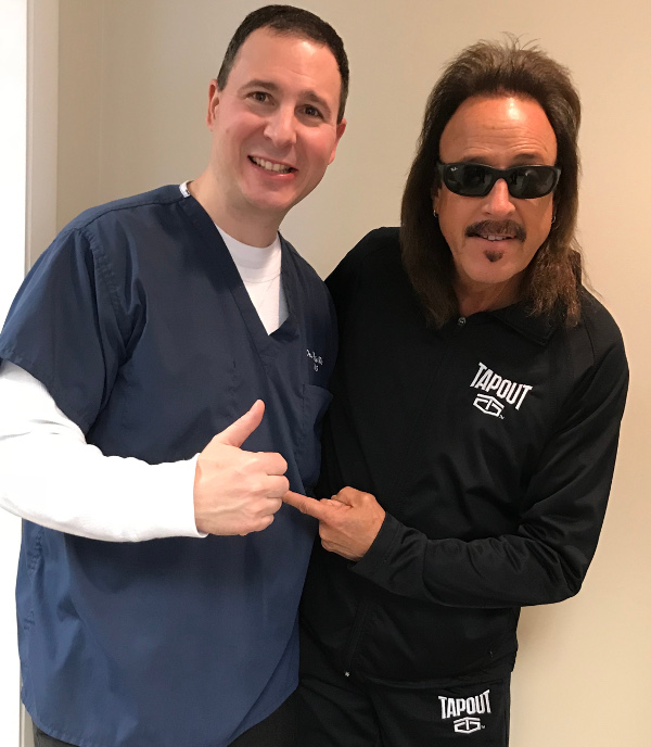 Dr. Martin Urban with WWE Hall of Fame Wrestling Manager Jimmy Hart